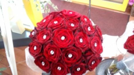 cluster brides bouquet
