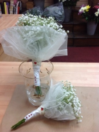 Childs vintage bridemaid bouquet