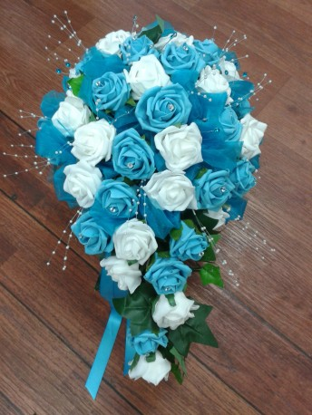 Turquoise wedding bouquet