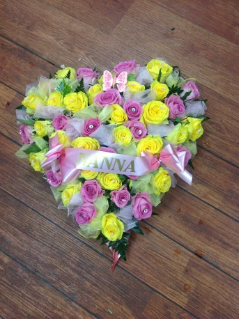 Pink and Yellow heart