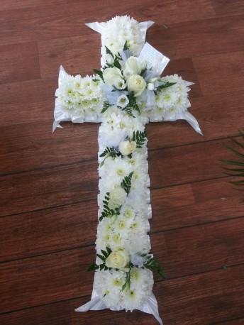 All white cross