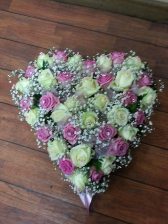 pink blush heart