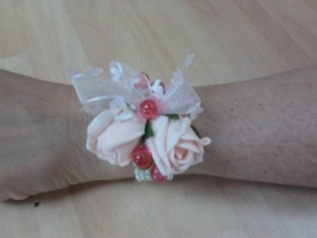 silk wrist corsage