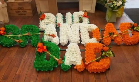 Irish coloured letters