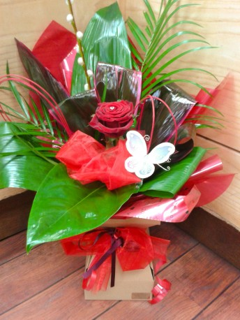 single rose boxed