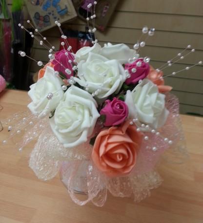 Silk bridesmaid wedding bouquet