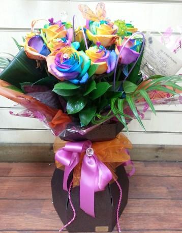 Prestige Rainbow Roses