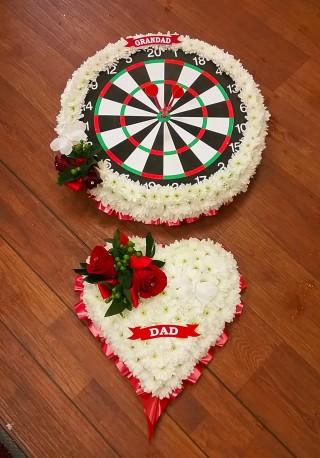 Floral Dartboard