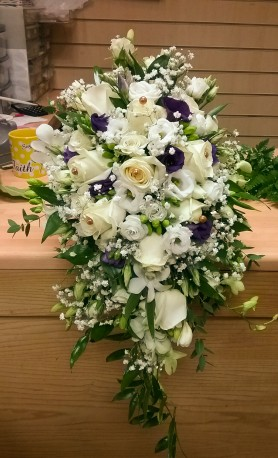 Brides shower wedding bouquet