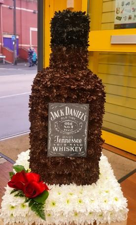Jack Daniel whisky bottle