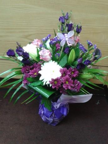 cadbury purple vase