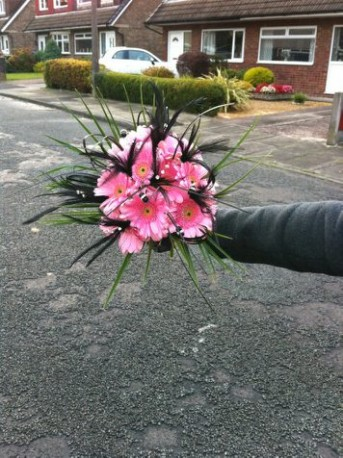 bridesmaid funky bouquet