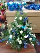 pedestal floral arrangement