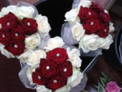 bridemaids cluster bouquets