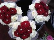 bridemaids cluster bouquets