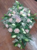 rose lily and gyp funeral design