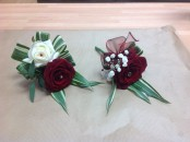 wedding rose buttonholes