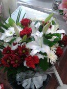 red and white bouquet