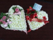 funeral heart tributes