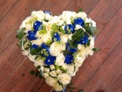 White and Blue Heart