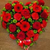 Red rose and green heart