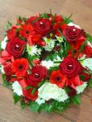 Deep Red Wreath