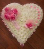 Baby pink and white heart