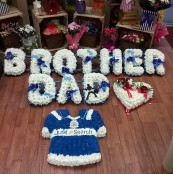 Blue and White tributes