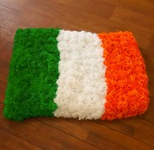 Irish silk flag