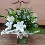 All white lily box
